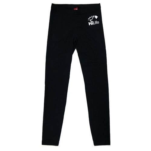 Black Leggings Basic Logo