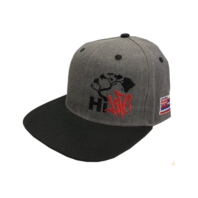 Hapa Snapback hats Dark Heather