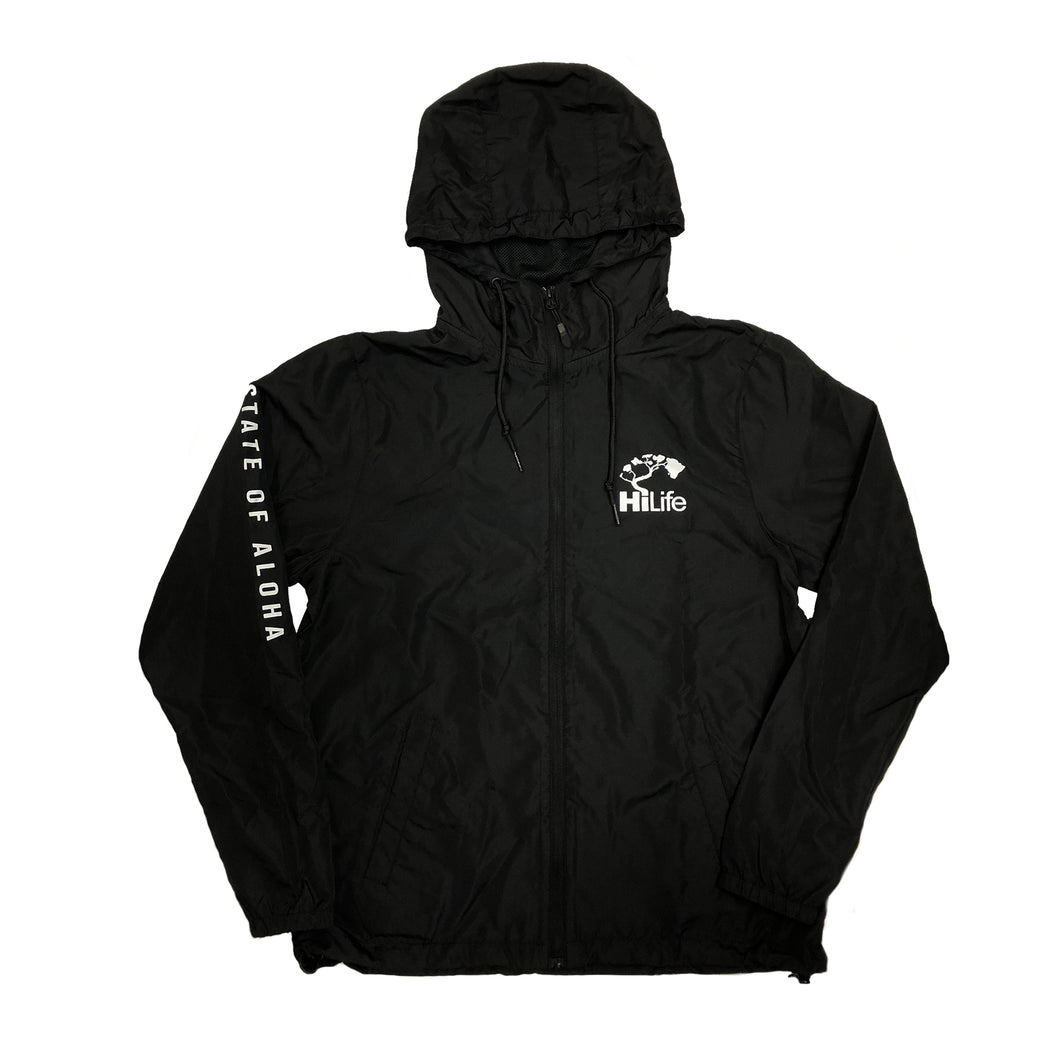 Windbreaker State of aloha on sleeve