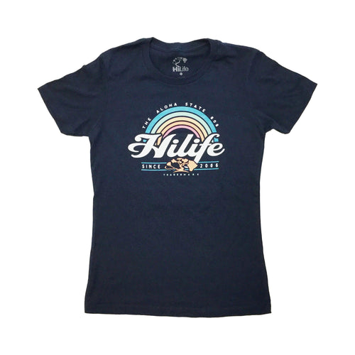 Women's Rainbow 9 Soft cotton Tee