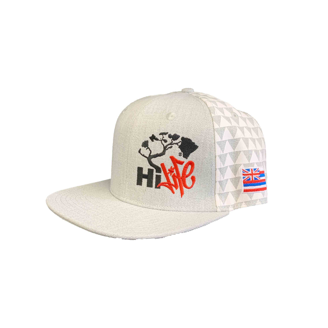 Hapa Snapback hats  Heather/White Triangles