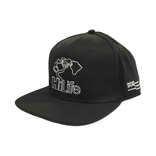 BASIC LOGO Snapback hats Black/White