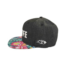 HILIFE logo Snapback hats Denim Gray/Floral
