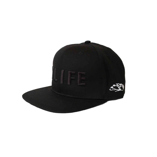 HILIFE logo Snapback hats Black on Black