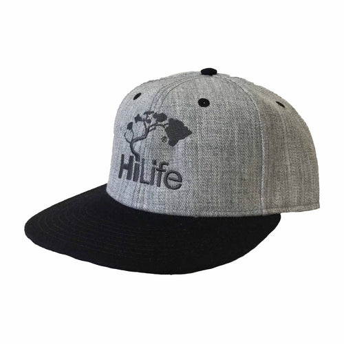 Snapback Cap - Heather Gray/Black