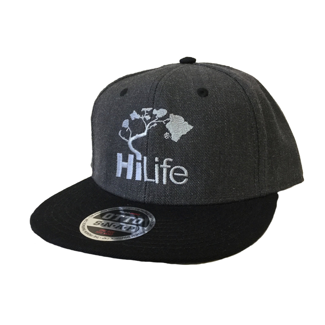 Snapback Cap - Heather Black/Black