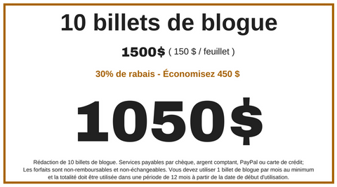 10 billets de blogue