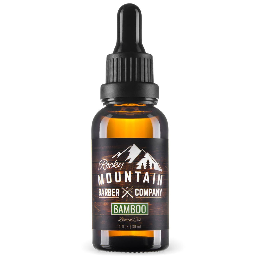 Rocky Mountain Barber Company Bamboo Beard Oil on White Background