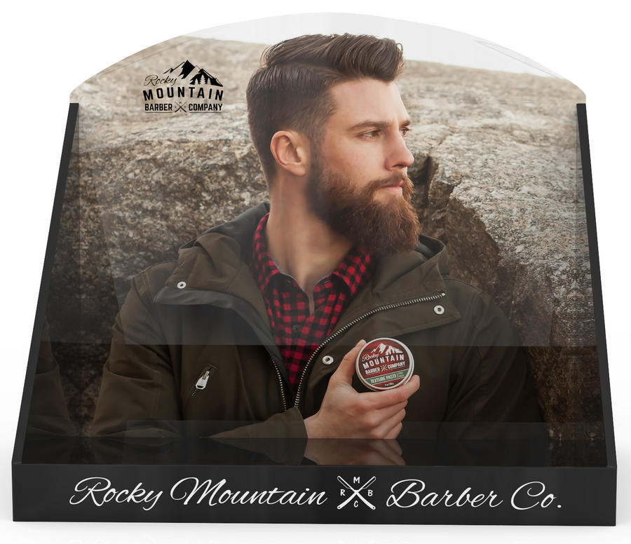 Countertop POP Display - Design A (Bearded Man)