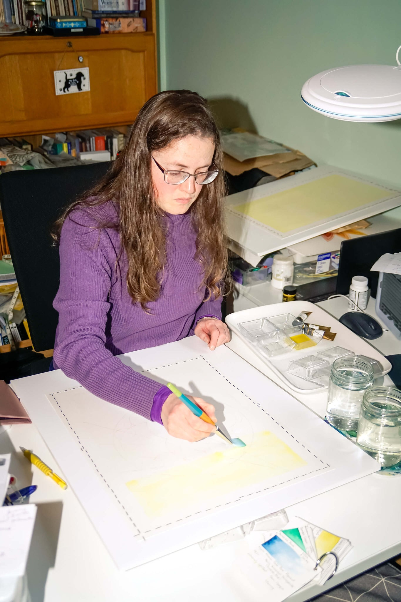 Auntie Betty Illustration wildlife artist drawing colour