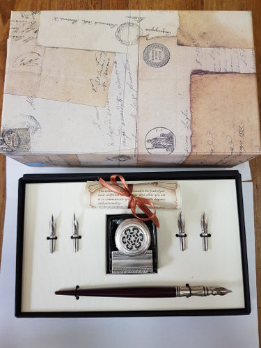 Royal Calligraphy Set with Ink Well