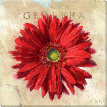 Gygi Red Gerbara | Canvas Wall Art | Small