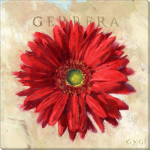 Gygi Red Gerbara | Canvas Wall Art | Medium