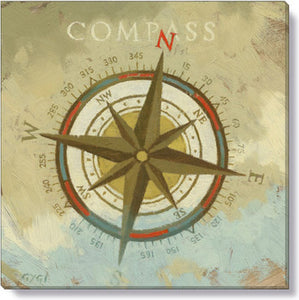 Gygi Compass | Canvas Wall Art | Small