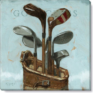 Gygi Golf Clubs | Canvas Wall Art | Medium