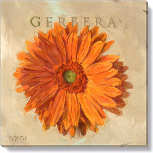 Gygi Orange Gerbara | Canvas Wall Art | Small