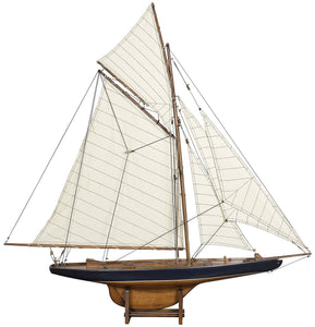 America's Cup Columbia 1901 Model Yacht French Finish, Small