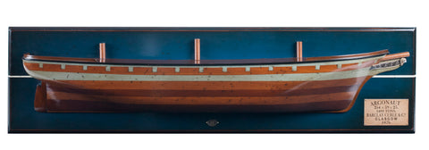 Handcrafted Timber 1876 Clipper Argonaut Half Hull Model Ship