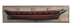 Handcrafted Timber 1868 Tea Clipper Thermopylae Half Hull Model Ship