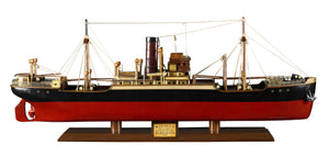 Handcrafted Wooden Tramp Steamer Malacca Model Ship