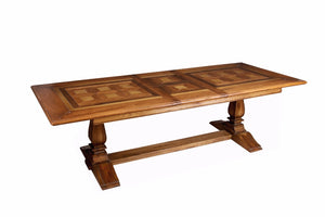 Centurion Extending Hardwood Parquetry Dining Table
