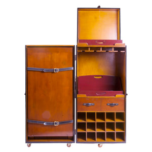 Grand Club Trunk Portable Bar