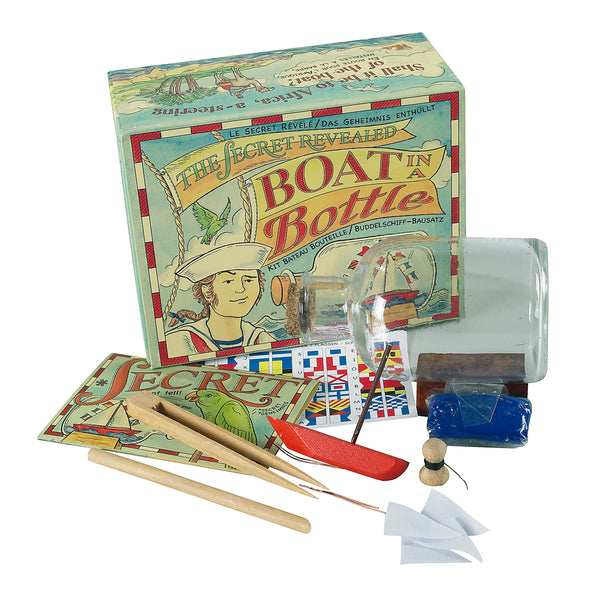 The Secret Revealed Boat in a Bottle Kit Activity Set