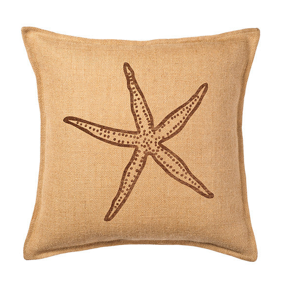 Eco-Accents Burlap Starfish Cushion