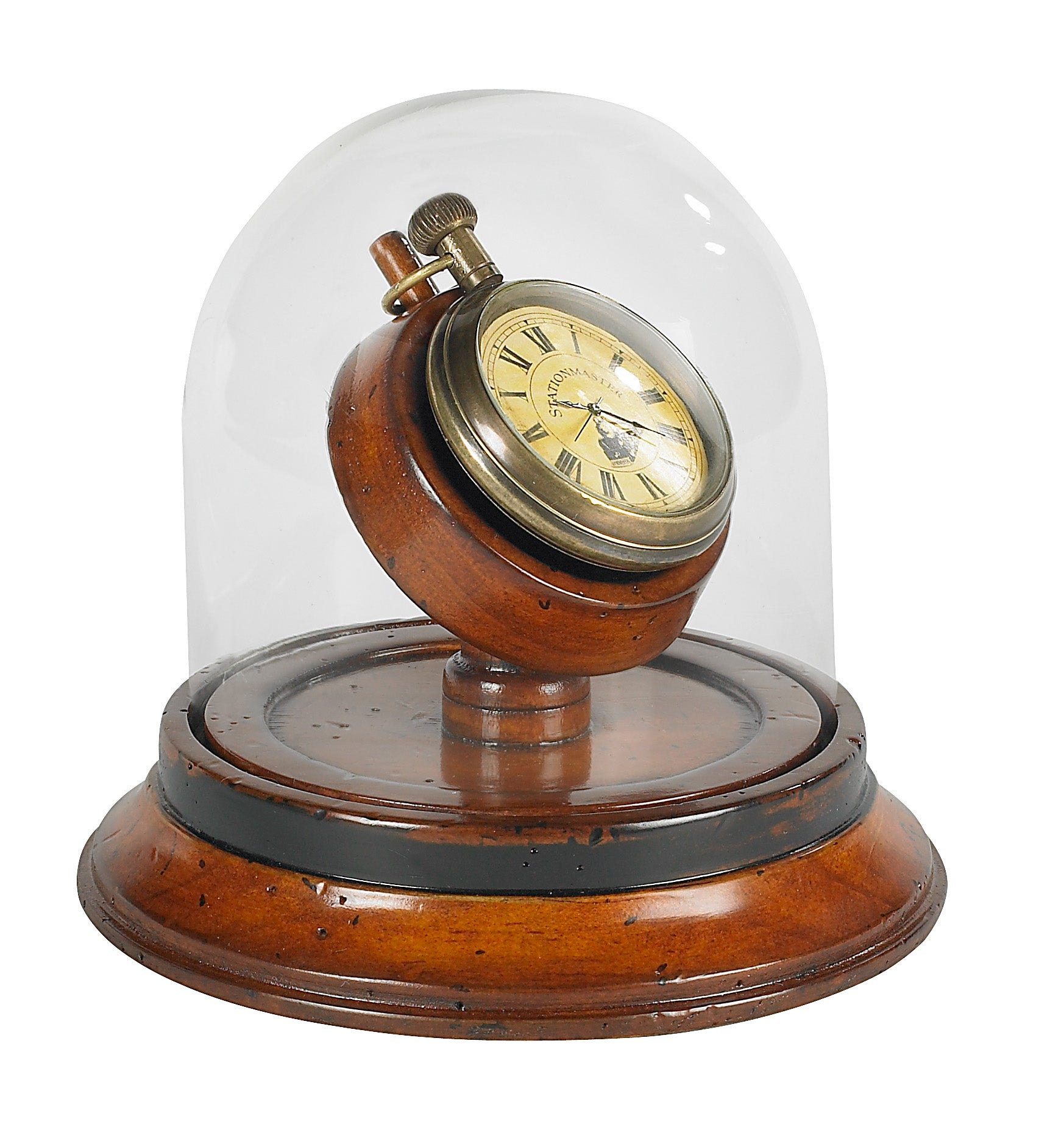 Victorian Dome Watch with Cherry Wood Base
