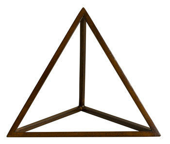 Platonic Solid Timber Tetrahedron Model