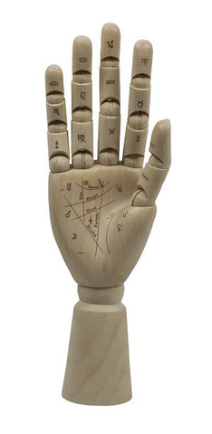 Palmist's Solid Timber Articulated Hand