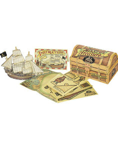 Pirate's Treasure Easy to Build Pirate Ship Activity Set