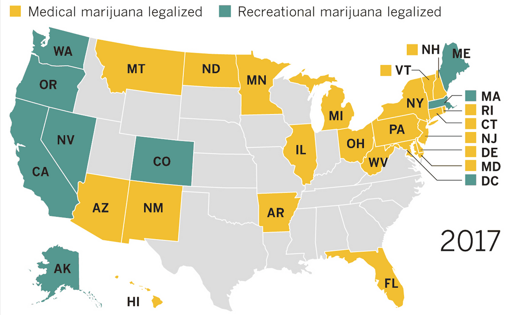 Concentrates In America: A Quick Guide of Every State's Laws and Regulations