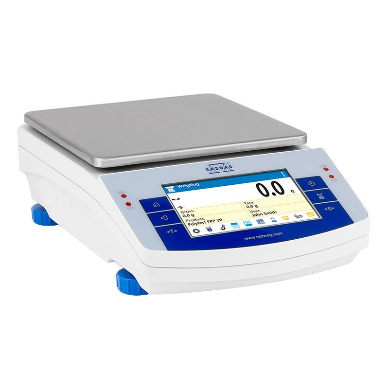 Way Up Scales  Radwag WLC 20.X2 Toploading Touchscreen Precision Balance  Precision Balance | Way Up Scales