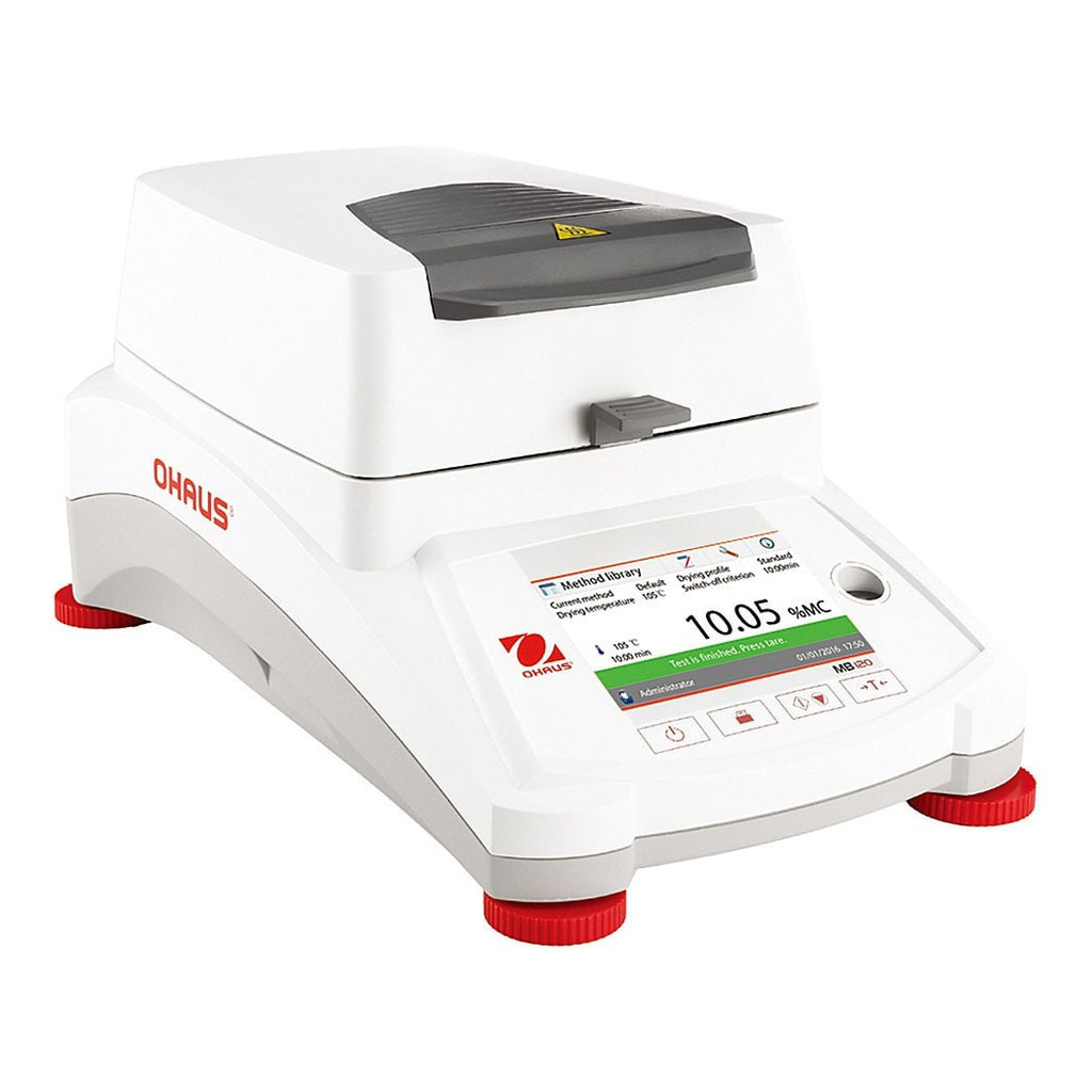Front View of Ohaus MB120 Moisture Analyzer