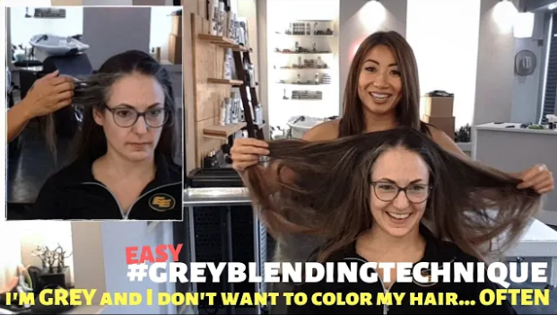 beauty strategies : I'M GREY and dont want to color my hair often. GREY HAIR blending techniques