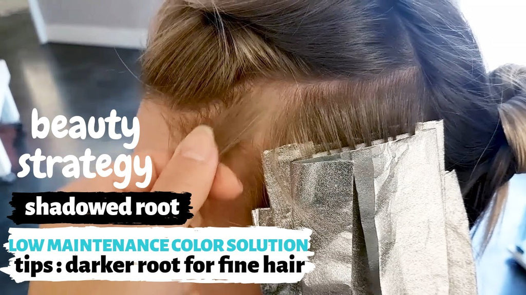 blonde ROOT TOUCHUP : low maintenance color solutions