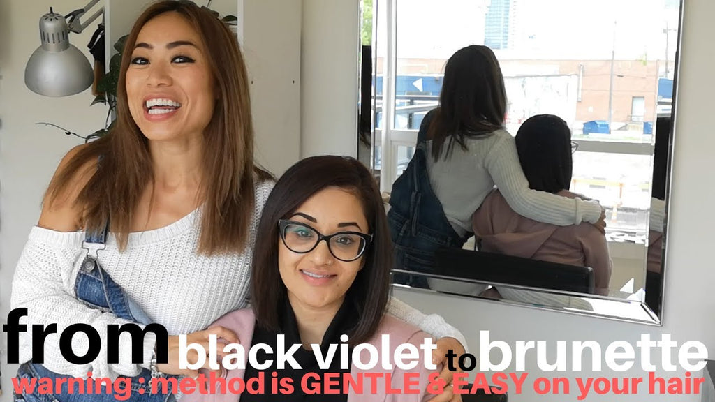 beauty strategy: GENTLE way to make black hair a little LIGHTER