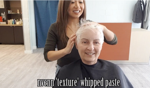 nvenn texture whipped paste for short hair