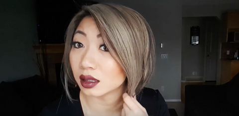 how to pin your hair into a BOB 8