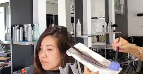 advanced color placement techniques foiling the hair
