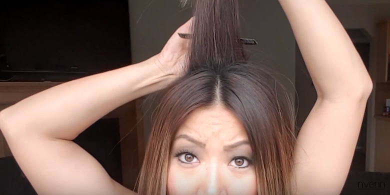 how to backcomb hair 1