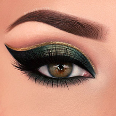 emerald and gold eyeshadow