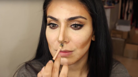 how to contour your nose liquid primer huda beauty