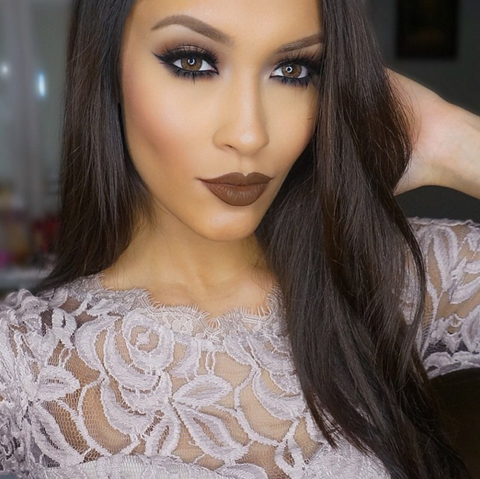 matte brown lips