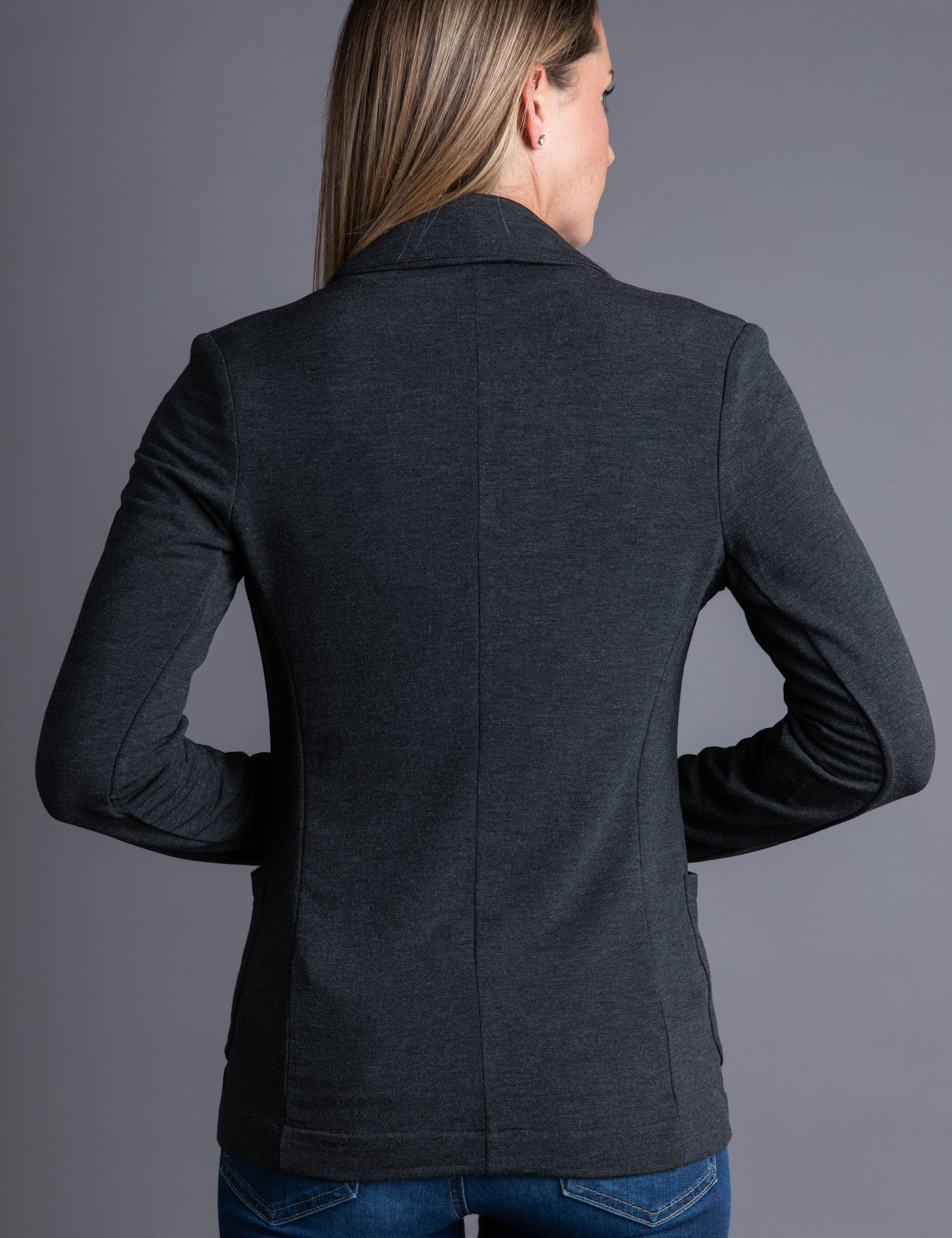 Majestic French Touch One Button Blazer in Anthracite