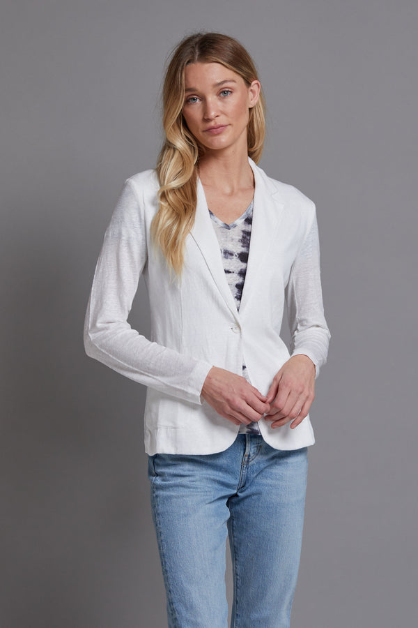 Majestic Linen Blazer in White