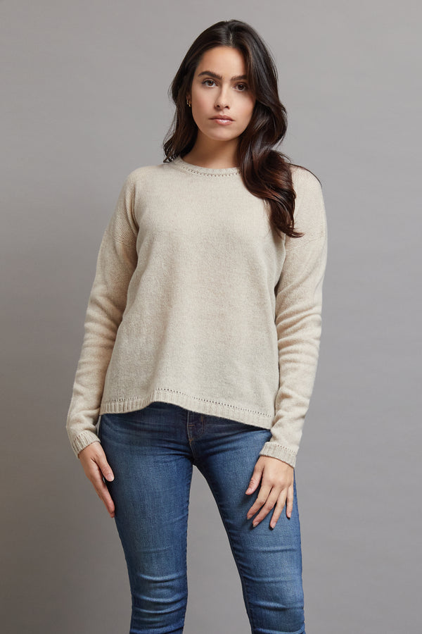 Majestic Oversized Crewneck in Sand