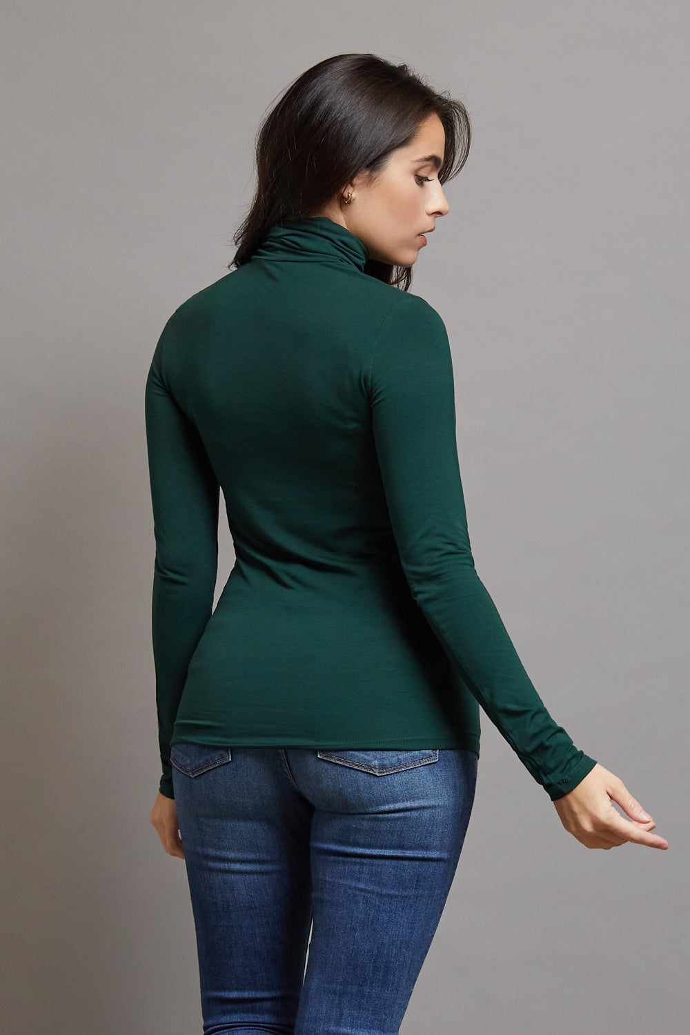 Majestic Long Sleeve Turtleneck in Scarabe