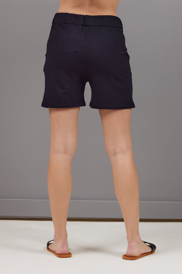 Majestic French Terry Shorts in Navy